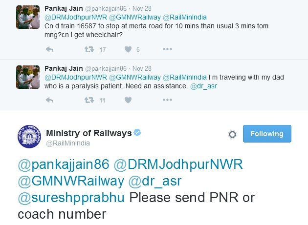 Rail Ministry Provides Wheelchair For The Sick Father, After Son Tweeted To Railway Ministry