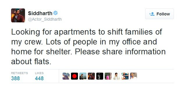 Siddharth And RJ Balajis Relief Efforts & Smart Use of Social Media Deserves Huge Applause