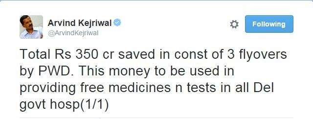 Delhi Govt To Provide Free Medicines To Delhittes With Money Saved From Flyover Projects