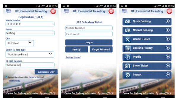 A Step Towards Digital India: Railway Launches App For Unreserved Ticket Booking