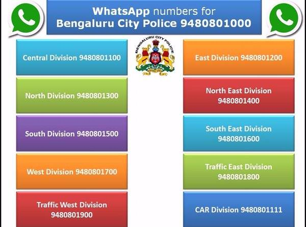 Now The Bengaluru Cops Can Be Reached On Whats App, Here Are The Numbers
