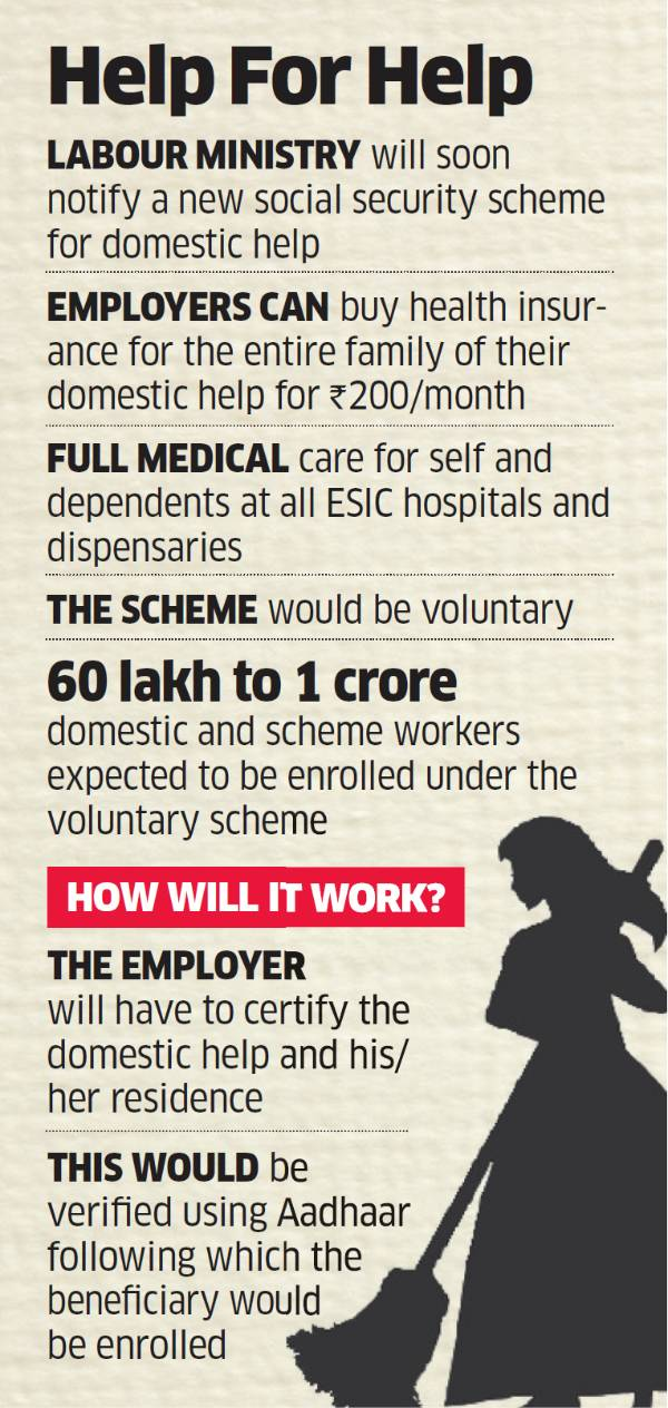 Employers Will Be Able To Get Their Domestic Help Insured At Rs 200 A Month