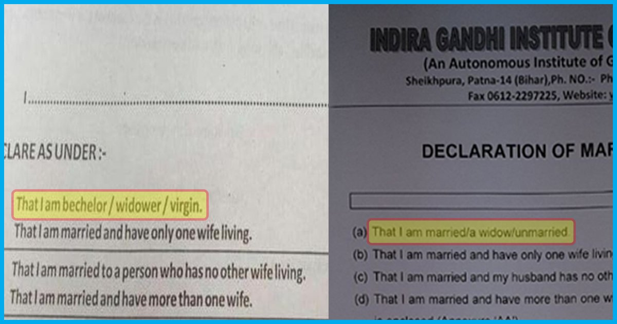 After Huge Uproar, Bihar Medical College Replaces 'Virgin' With 'Unmarried' In Their Marital Declaration Form