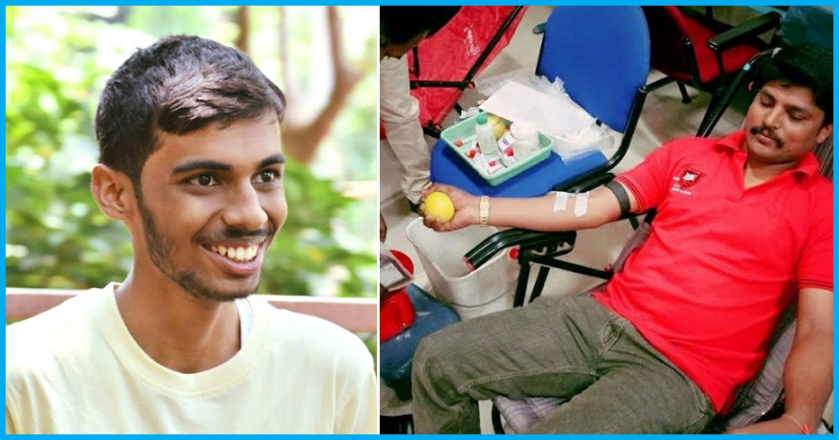 This 18-Yr-Old From Bengaluru Is Trying To Ensure That No Life Is Lost Due To Blood Scarcity