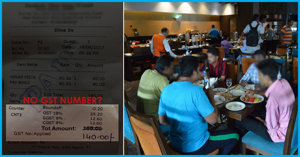 Non-Registered Restaurants Duping Customers By Charging Them GST; Here's How You Can Verify Your Bill