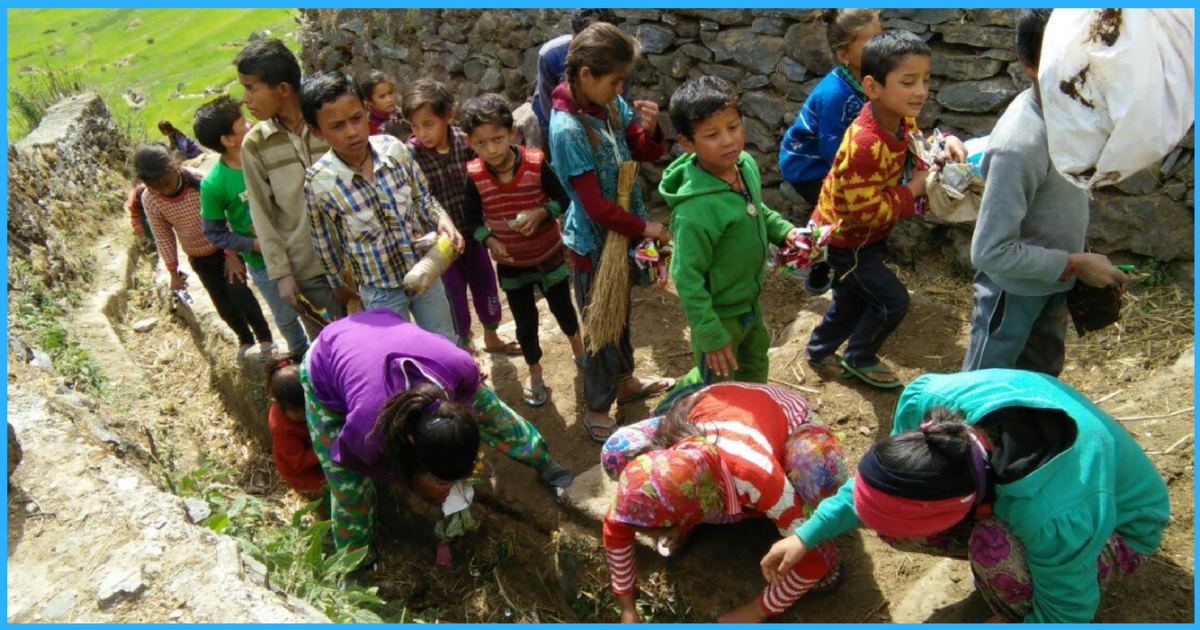 These 35 Children Went Door To Door For A Survey And Cleaned Their Village In Uttarakhand