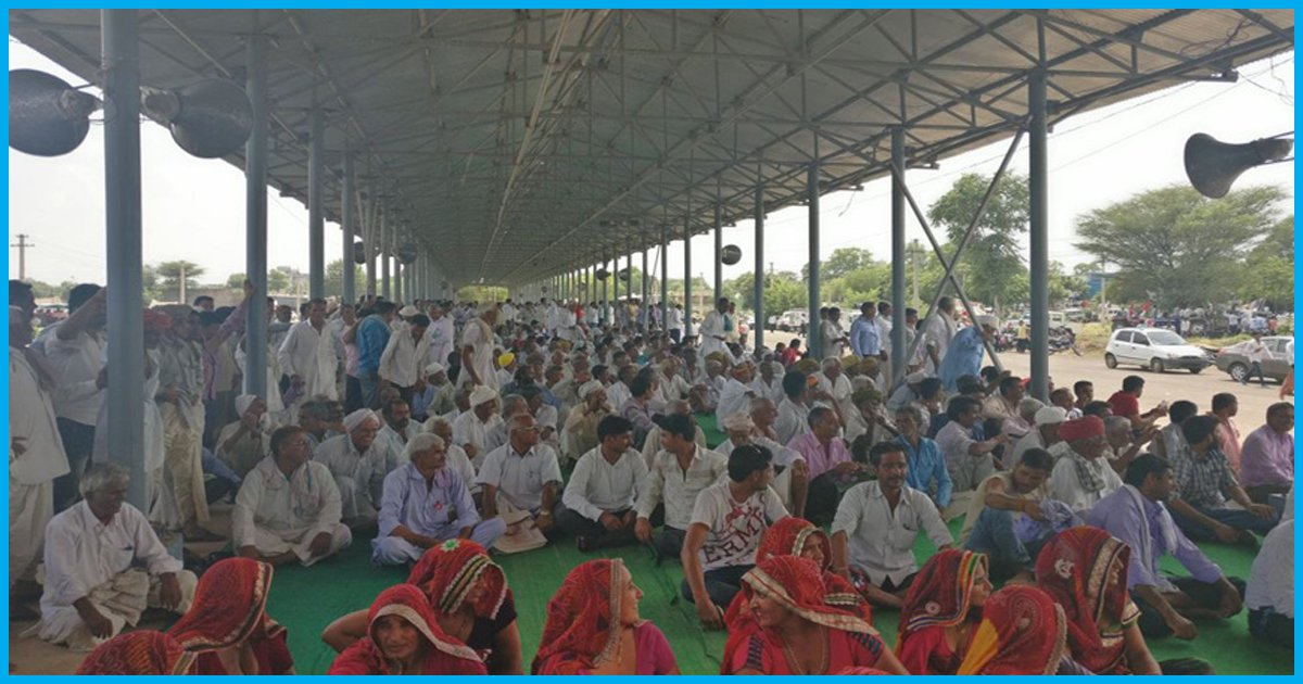 Rajasthan: Over 15,000 Farmers Protest For Complete Loan Waiver, Withdrawal Of Ban On Cattle Trade