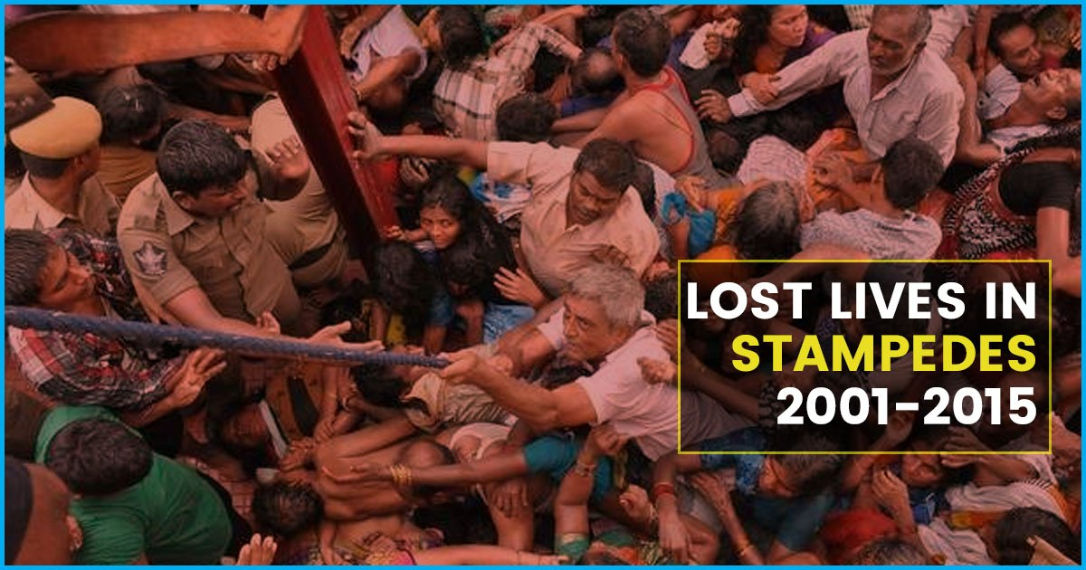 Close To 3000 People Lost Their Lives In Stampedes Between 2001 & 2015