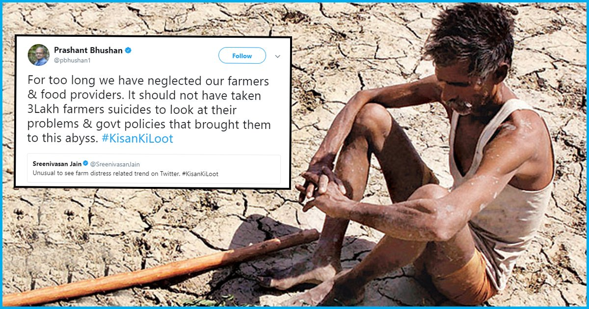 #KisanKiLoot: An Online Campaign To Highlight How Farmers Have Been Betrayed