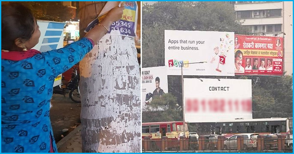 Mumbai: Group of Youth Spends New Year Removing Illegal Hoardings Nailed On Trees