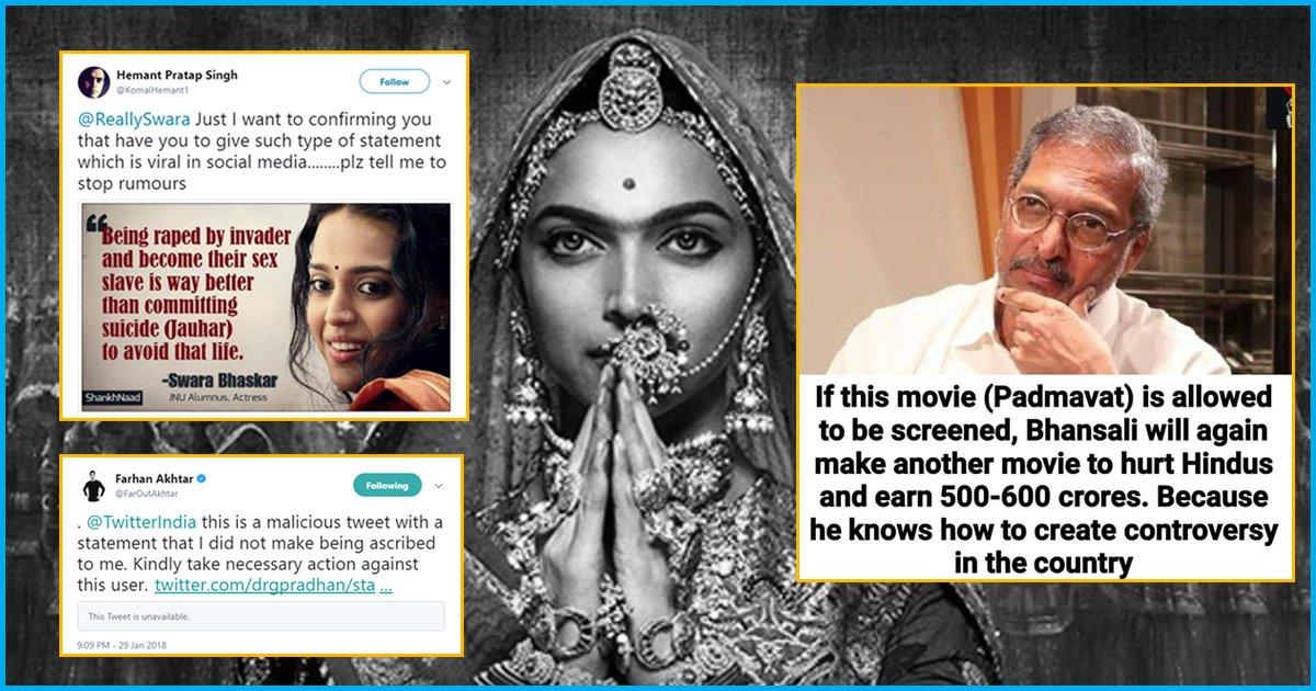 Spreading Hatred In The Name Of Celebrities: Farhan Akhtar, Swara Bhaskar & Nana Patekar Targeted