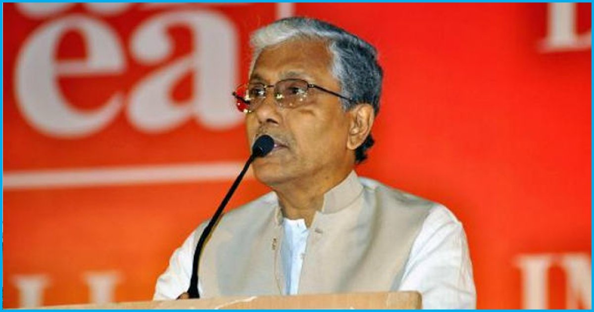 Manik Sarkar To Continue Living An Austere Life After Defeat, Moves To A Room In CPI(M) Office