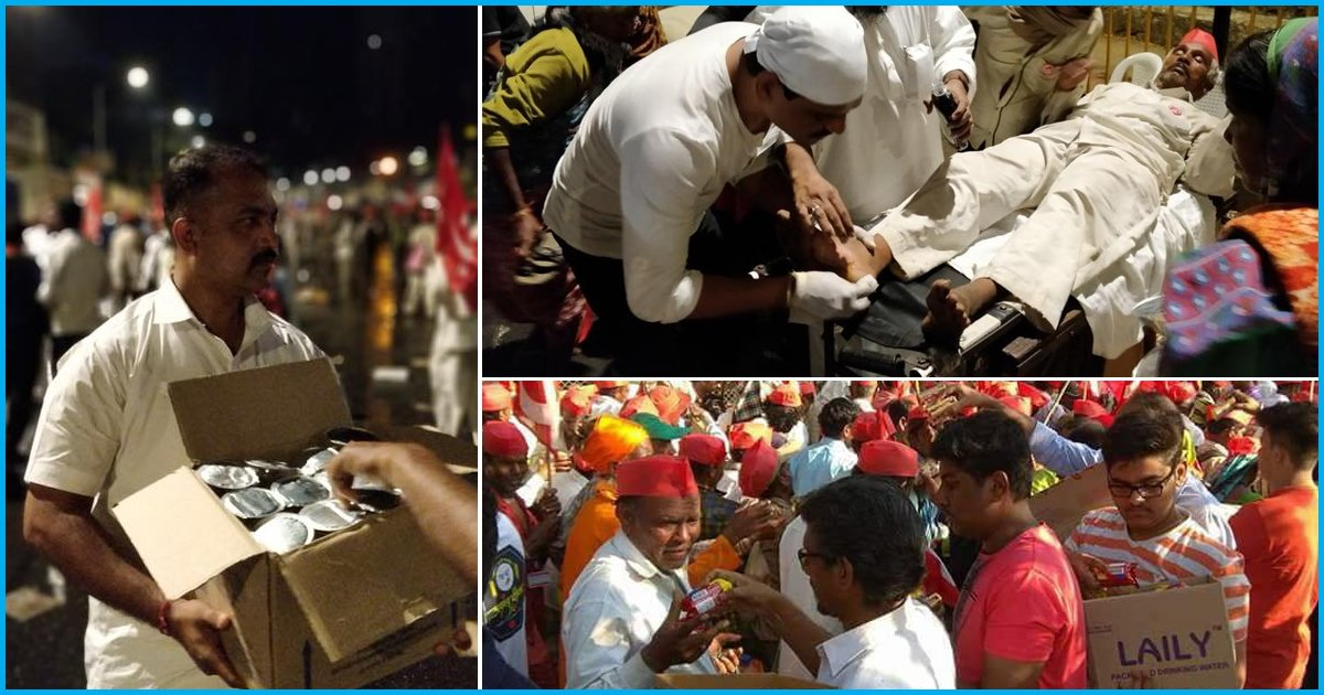 Walked For 180 KM In 6 Days, Farmers Welcomed By Mumbai Residents With Food & Water