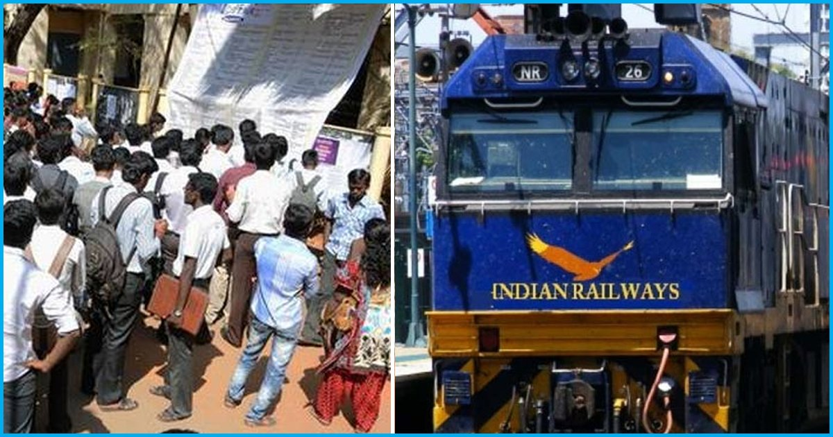 Indian Railways Received Two Crore Applications For One Lakh Official Vacancies