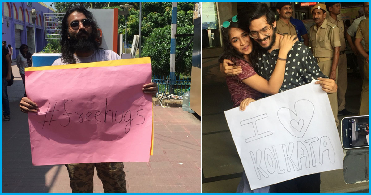 Love For Hate: Kolkata Youth Protest Beating Of Couple By Giving Free Hugs To Each Other Outside Metro Station