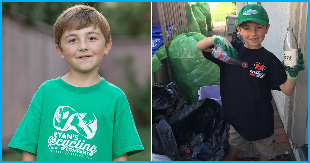 This 7-Yr-Old Californian Kid Runs His Own Recycling Company, Earned $21,000 In Four Years