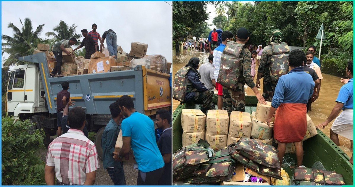 How Army Veterans & Common Citizens Came Together For Kerala & Kodagu Flood Relief Effort