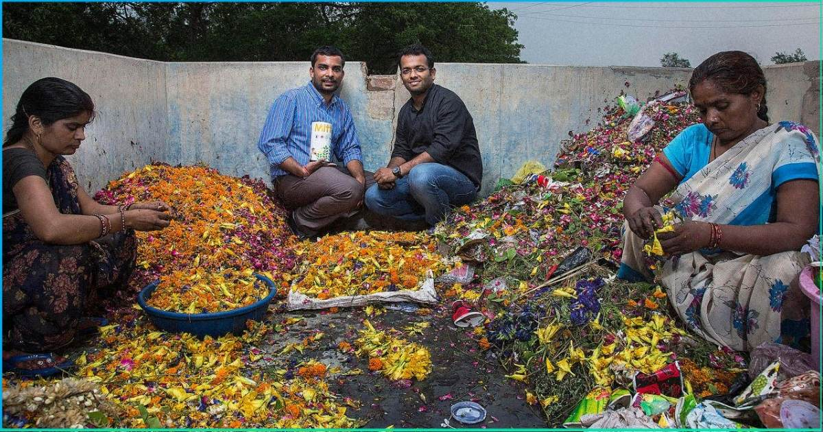 Tonnes Of Flowers Are Thrown Out By Temples Every Day, This Team Is Turning Them Into Incense Sticks