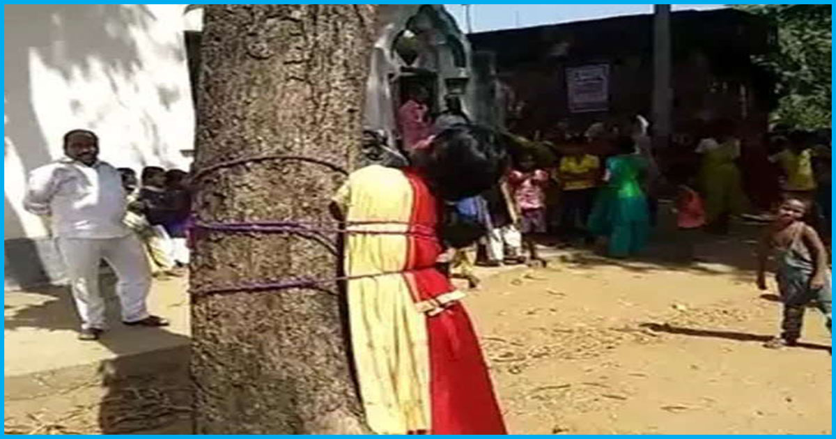 Bihar: 18-Yr-Old Tied To A Tree, Thrashed For Eloping With A Man From Different Community