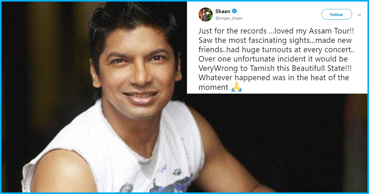 """Assam: Shaan Allegedly Attacked With Stones At Concert; Tweets """"Complete Lies"""" To Clarify Incident"""