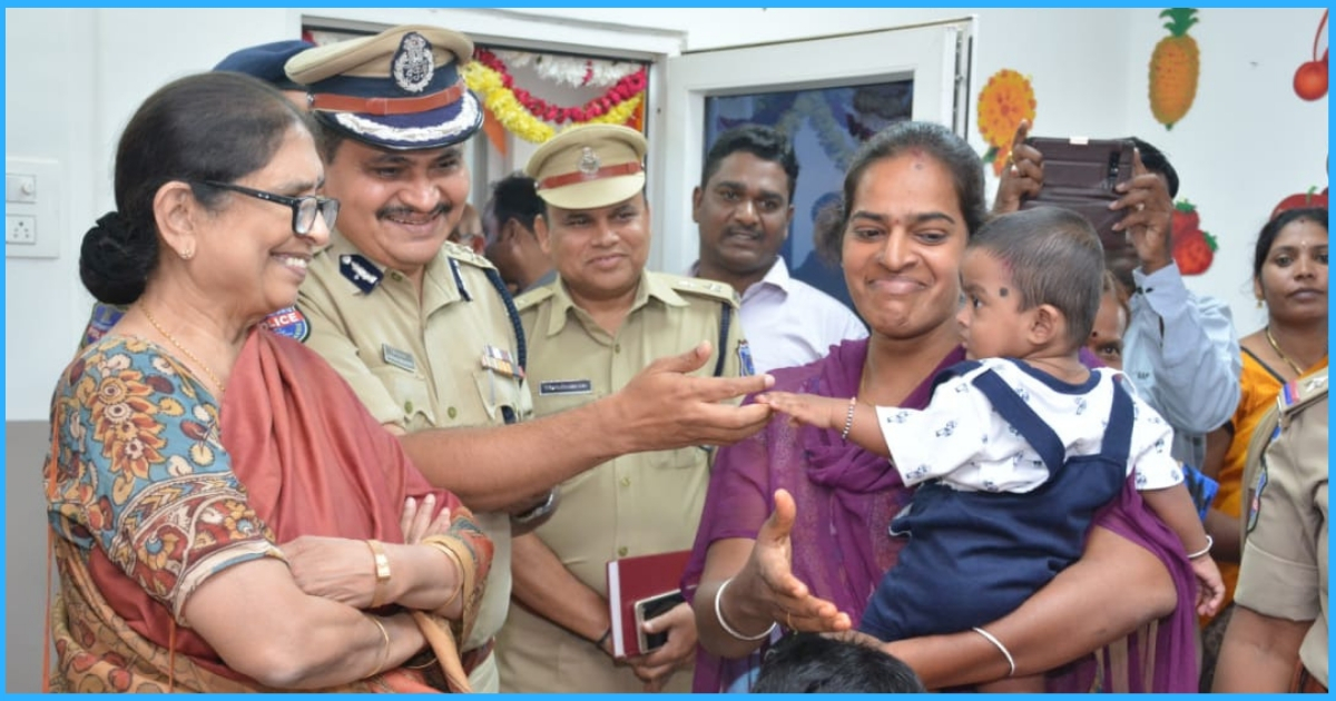 In Order To Facilitate Its Women Staff & Their Wards, This Telangana Police Station Gets Its Own Creche