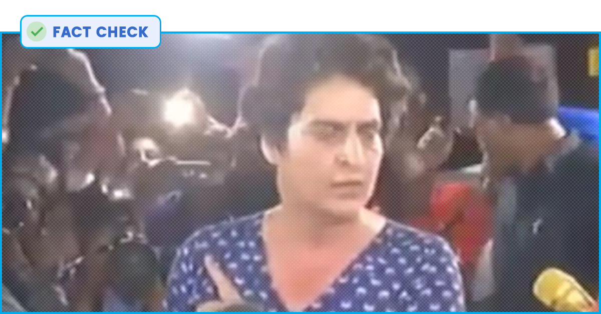 Fact Check: No, Priyanka Gandhi Was Not Drunk At The March To India Gate