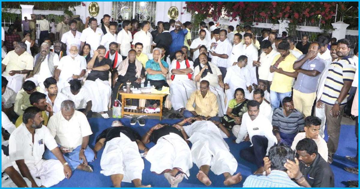Puducherry CM Sleeps Outside L-G Kiran Bedi's House; Protests Against 'Autocratic' Rule