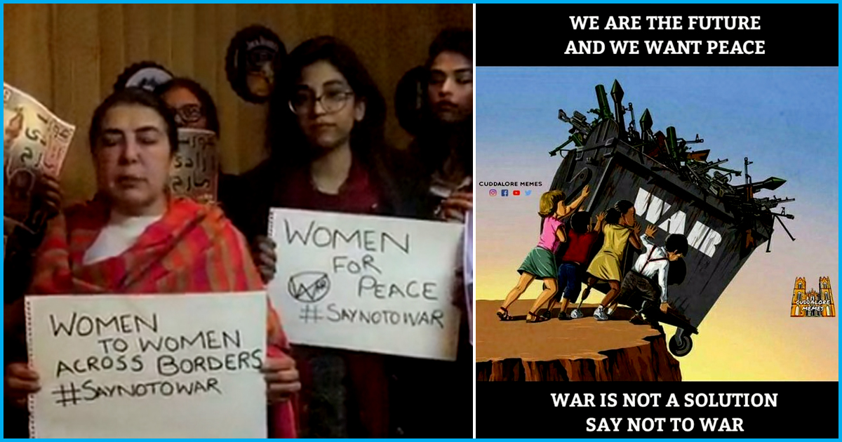#SayNoToWar Trends As Indians And Pakistanis Call For Peace Amidst The Hostile Situation