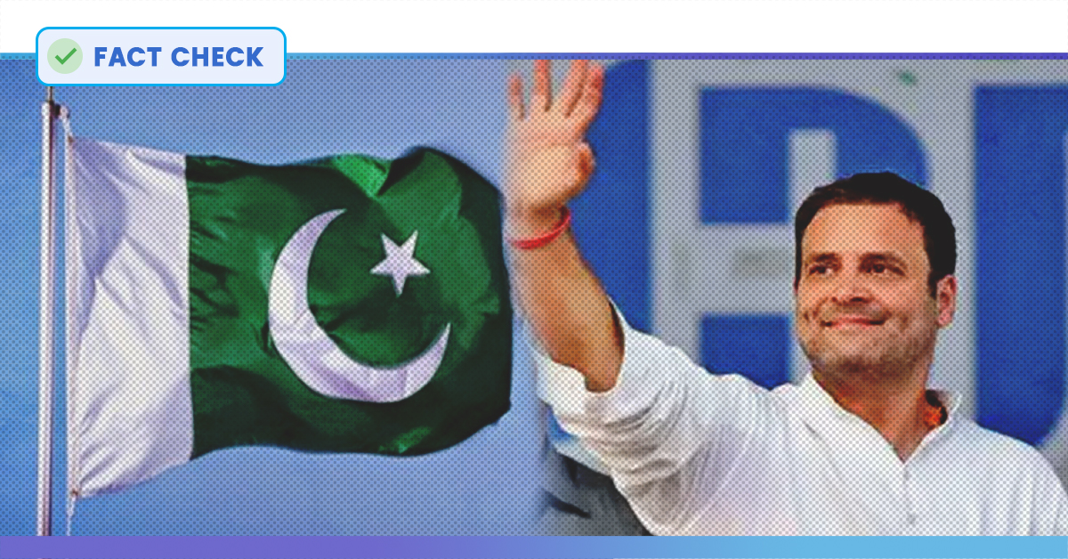 Fact Check: No, Pakistani Flags Were Not Waved In Rahul Gandhis Wayanad Roadshow