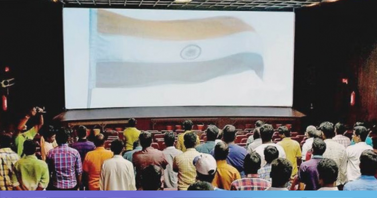 29-Yr-Old Arrested For Disrespecting The National Anthem At A Movie Theater In Bangalore