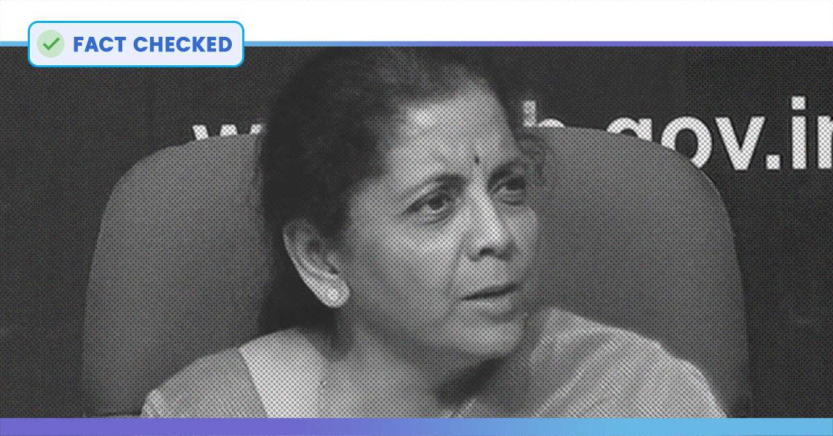 Fact Check: Did Nirmala Sitharaman Claim That Demonetisation Had No Impact On The Indian Economy?