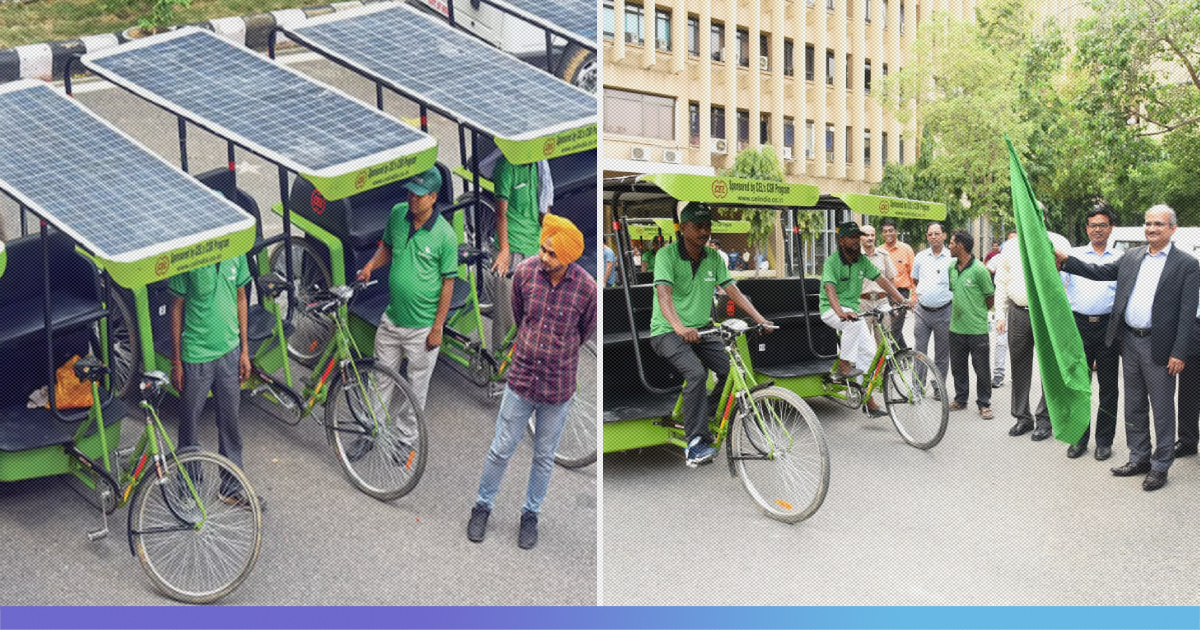 Solar Rickshaws Introduced At IIT-Delhi Campus; Will Reduce Workload Of The Rickshaw Pullers Substantially