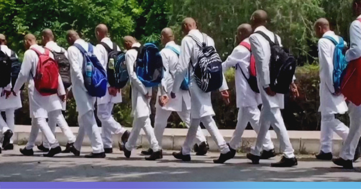 First Year Medical Students Forced To Shave Their Heads, Paraded Around Campus As Part Of Ragging
