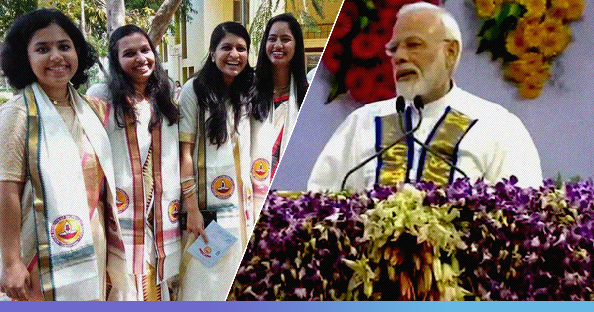 From Gowns To Kurtis, How PM Modis Presence Changed Students Convocation Attire At IIT Madras