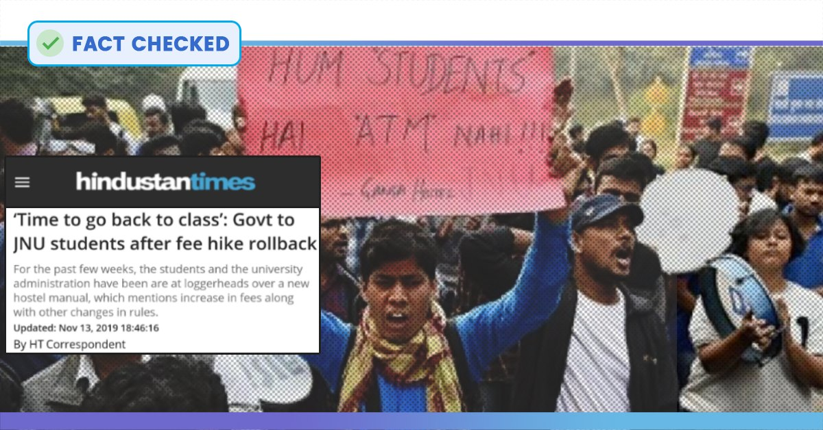 Fact Check: Whether Price Hike Rollback Of JNU Is Indeed A Major One?