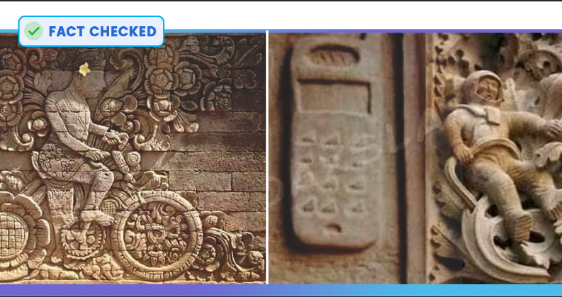 Fact Check: Astronaut & Bicycle Carved On A Cathedral In Spain Shared As Past Glory Of Indian Temple