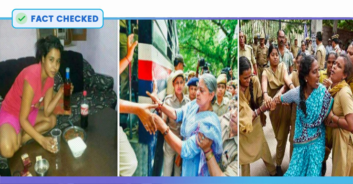 Fact Check: Are These Photos Of Women Being Shared On Social Media Of JNU Students?