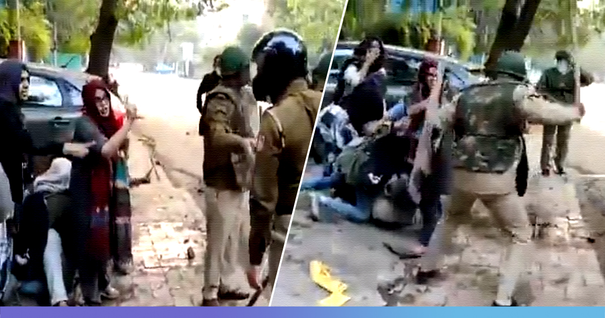 Watch: Jamia Women Brave Police Baton To Save A Man From Getting Attacked