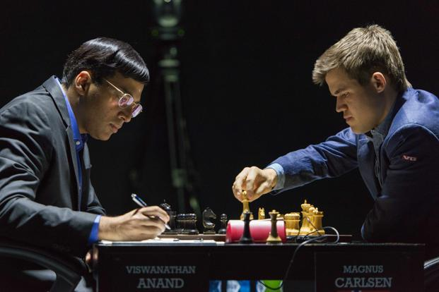 Viswanathan Anand beats world chess champion Magnus Carlsen