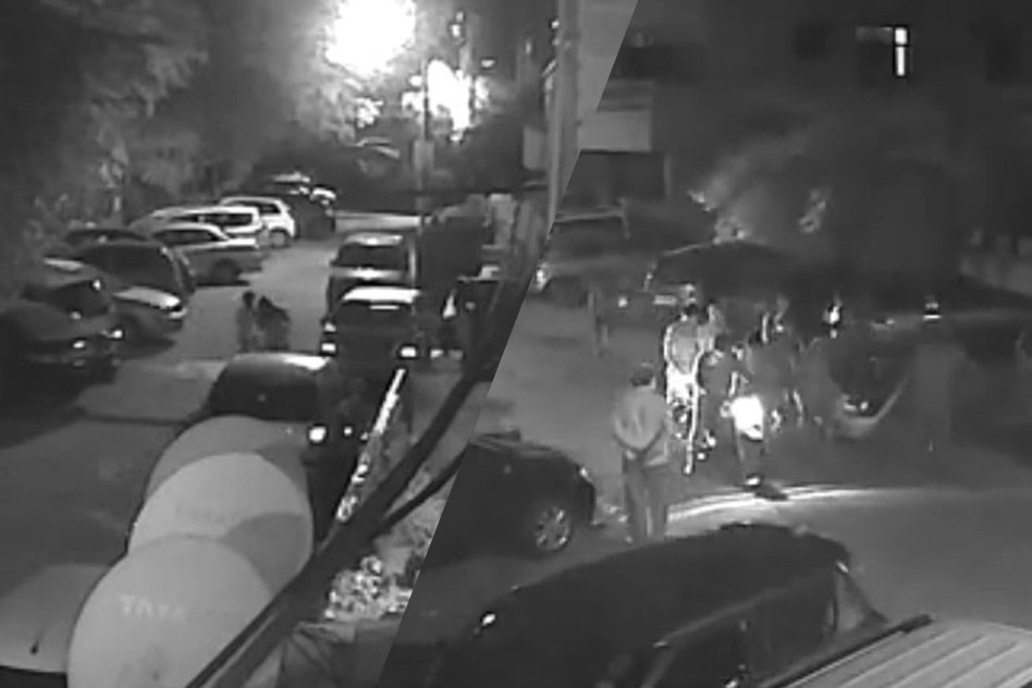[CCTV] Delhi: Teenagers Rescued A Foreigner Woman Under Attack, Chased Down The Robber
