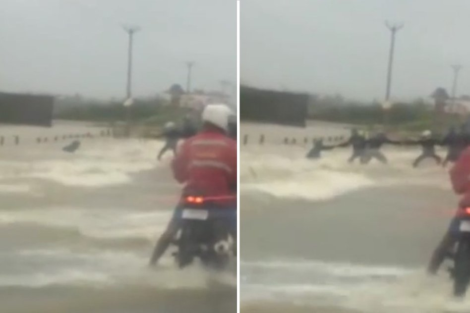 Video: How A Group Of Chennaites Formed A Human Chain To Save A Man From Drowning