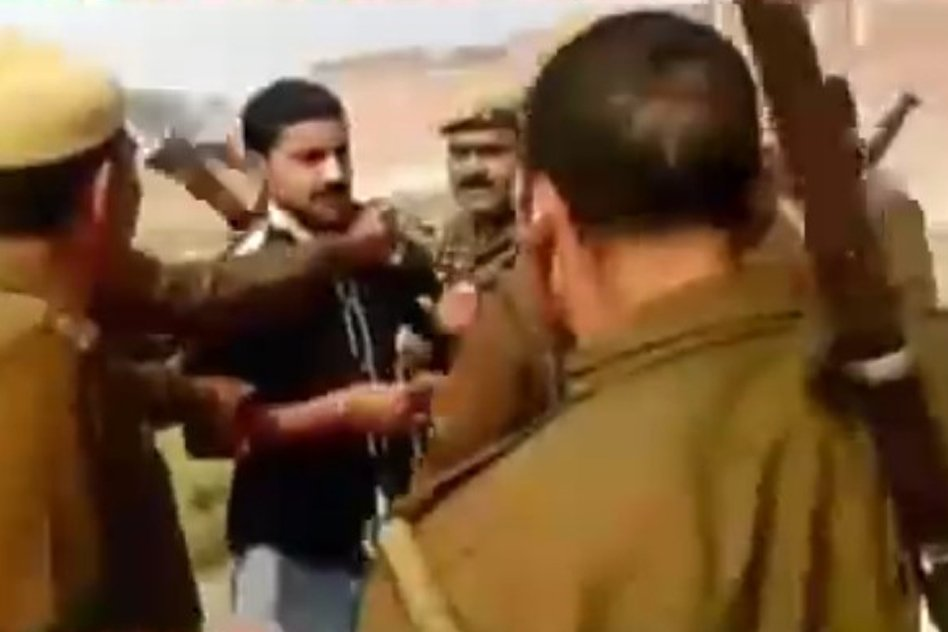 [Watch] Sub-Divisional Magistrate Caught Beating A Petitioner In Uttar Pradesh