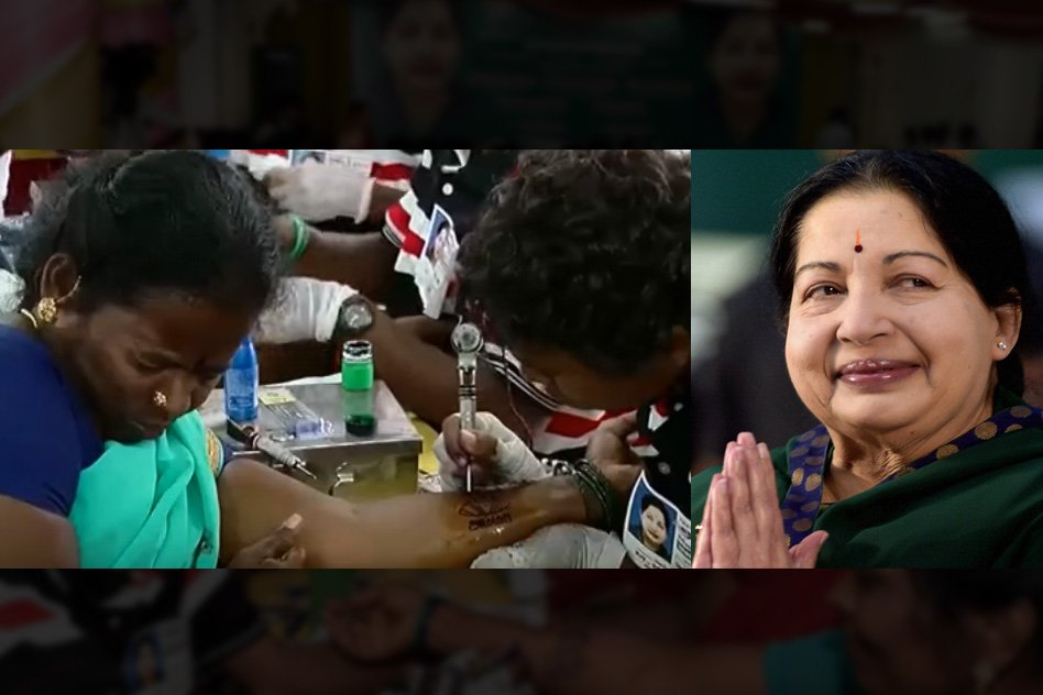 Watch: Girl Students Forcibly Punched With Amma Tattoos  During Jayalalithaas Birthday, A New Low
