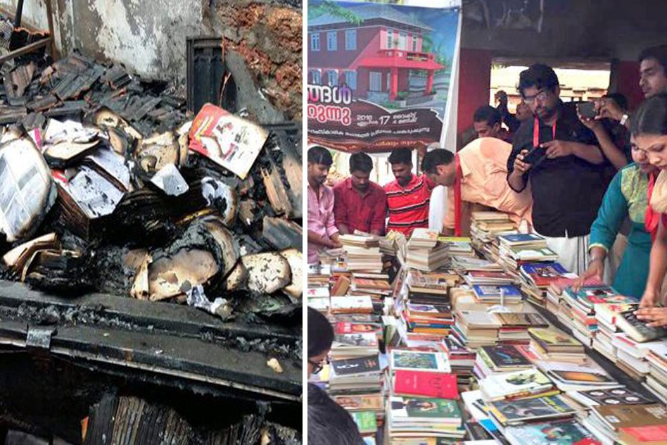 5000 Books Were Lost After A Kerala Library Was Burnt, How It Got Restored By People Is Inspirational