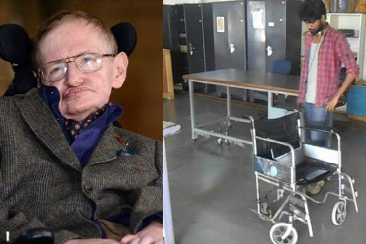 To Help His Grandfather, Student From Bihar Invents Wheelchair Similar To Stephen Hawkings