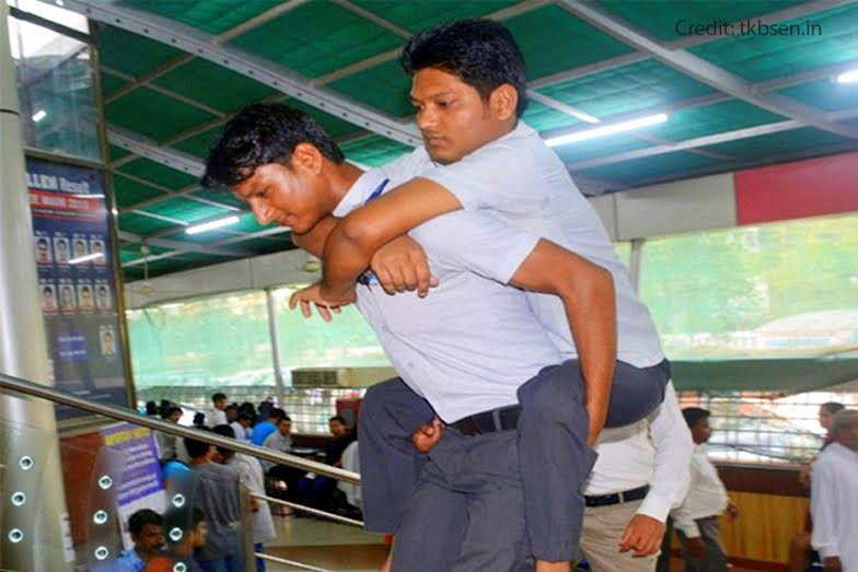 Polio-Affected Older Brother Is Carried To School By Younger Brother, Both Crack IIT