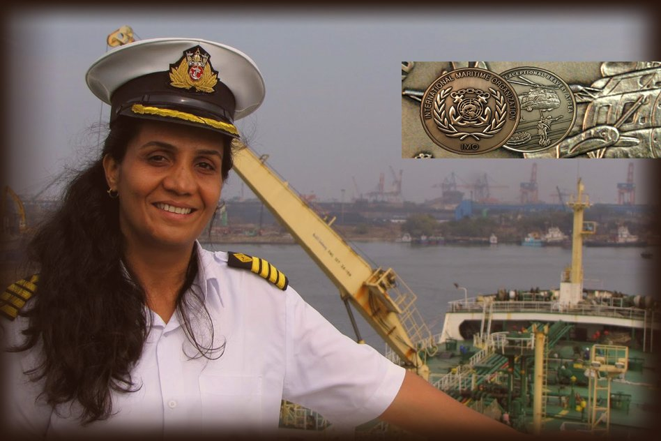 Captain Radhika Menon Becomes The Worlds First Woman To Receive Bravery At Sea Award