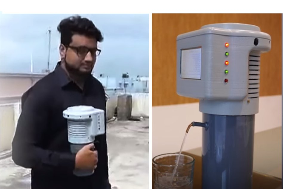 Video: 22-Year-Old Engineering Student From Hyderabad Invents Asias First 3-D Device To Make Water From Air
