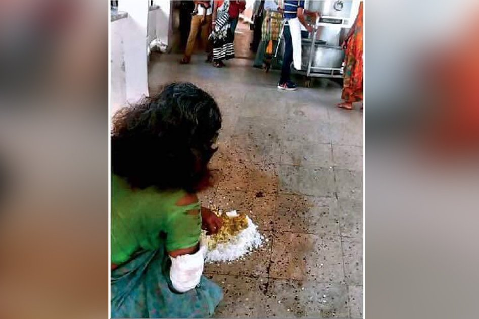 No Plates, Patient With Fractured Hand Gets Food Served On The Floor In Ranchi's Top Hospital