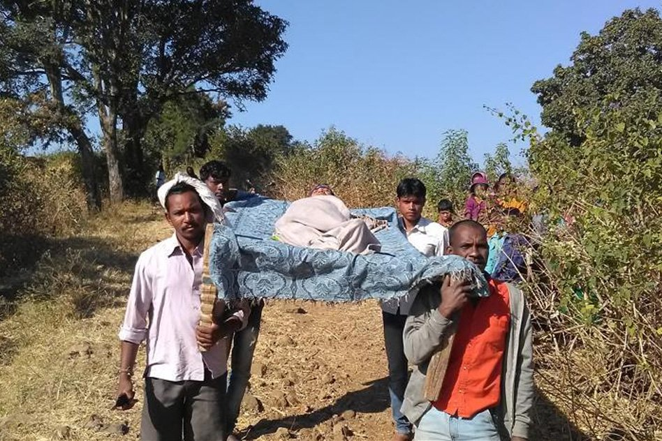 The People Of This Village Have To Carry Their Family Members On Cots To The Hospital